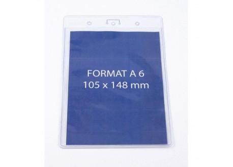 Porte-badge souple format A6