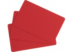 100 CARTES ROUGES CR80 0,76 mm