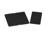 100 cartes PVC noires sécables