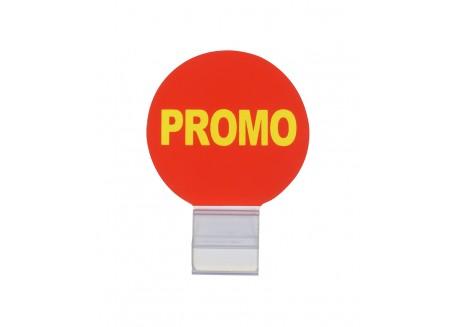 Badge Promo et pince cristal de fixation,