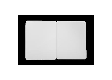 500 cartes PVC blanches sécables en 2